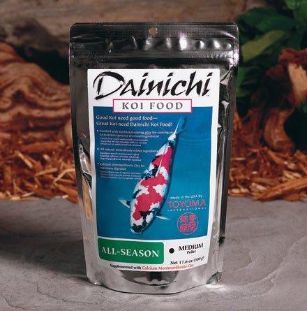 Dainichi Fish Food, ALL-SEASON Koi Food, Small Floating Pellets, 5.5 lb Bag