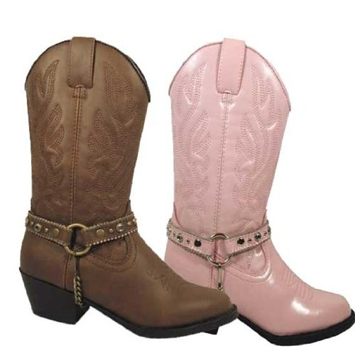 Smoky Mountain Girl's Charleston Western Round Toe Boot Pink 3 ()