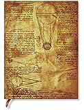 Paperblanks - Leonardos Skizzen Sonne & Mondlicht - Notizbuch Ultra Flexi Liniert - 176 Seiten