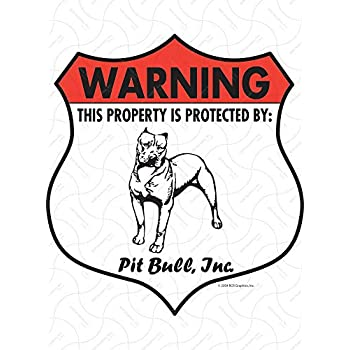 Amazon.com: Warning. Bulldog Perro aluminio Sign – Insignia ...
