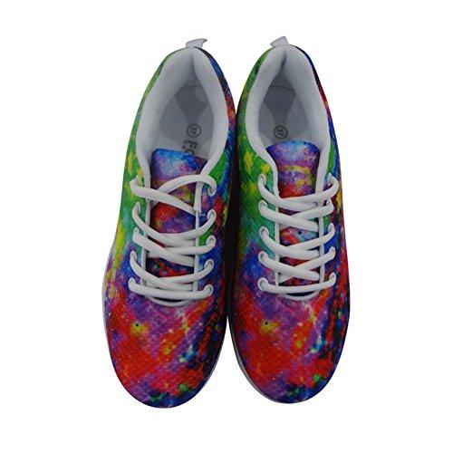 HUGS Womens Shoes Sneakers Flower Fitness Galaxy Fashion Stylish Platform Swing IDEA rRqxEr