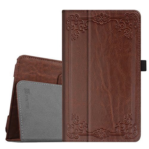 Fintie Folio Case for Samsung Galaxy Tab E 8.0 - Premium PU Leather Slim Fit Smart Stand Cover for Galaxy Tab E 32GB SM-T378 / Tab E 8.0-Inch SM-T375 / SM-T377 Tablet, Vintage Antique Bronze