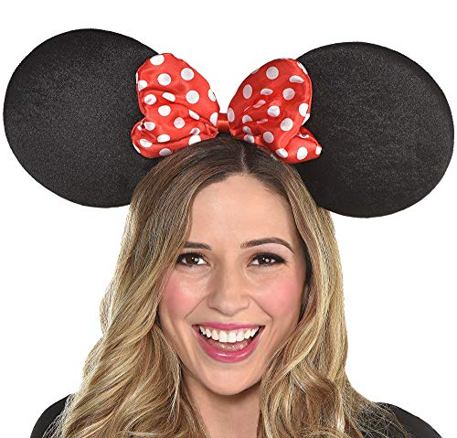 SUIT YOURSELF Minnie Mouse Ears for Adults, One Size, Feature Giant Mouse Ears on a Headband with a Red Polka Dot Bow]()