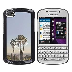 Design for Girls Plastic Cover Case FOR BlackBerry Q10 Diamond Miami California La Palm Trees OBBA