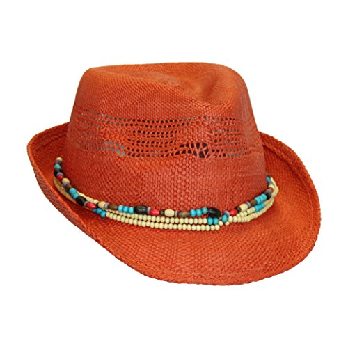 orange-red-bohemian-summer-straw-fedora-sun-hat-w-wood-bead-trim
