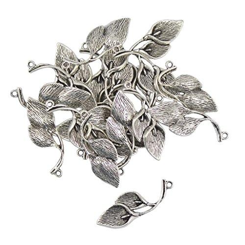 20pcs Tibétain Lys Calla Fleur Charmes Pendentifs Fabrication De Bijoux Artisanal- Argent
