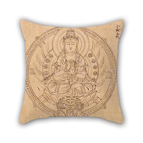 Slimmingpiggy Throw Pillow Case Of Oil Painting Shinkaku - BUDDHIST DIVINITIES IN TWO VOLUMES 20 X 20 Inches / 50 By 50 Cm,best Fit For Teens Girls,teens,pub,home,coffee House,girls Double Sides (Wicker Furniture Painting Ideas)