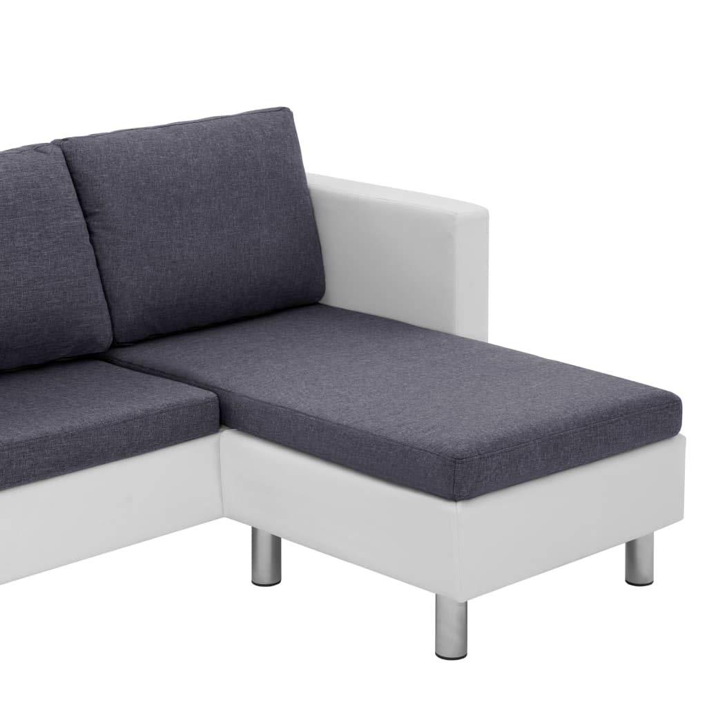 3 Sitzpolster and 3 Kissen Tidyard- L-f/örmig Sofa Mit Kunstleder-Polsterung elastisch f/ür Wohnzimmer Couch-/Überzug f/ür Sessel 3-Sitzer