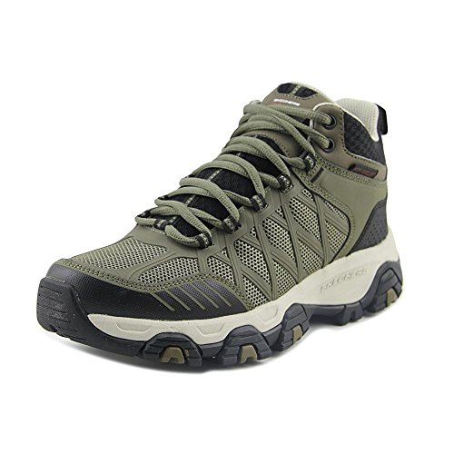 Black Terrabite Men's Olive Boots Skechers Hiking Turnery 1aqxwT