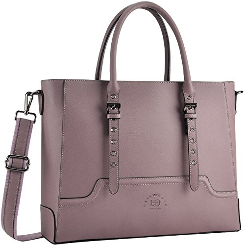 Laptop Bag for Women, 15.6 Inch Laptop Tote Multi-Pocket Work Tote Bag Structured Briefcase with Professional Padded Compartment by EaseGave ()