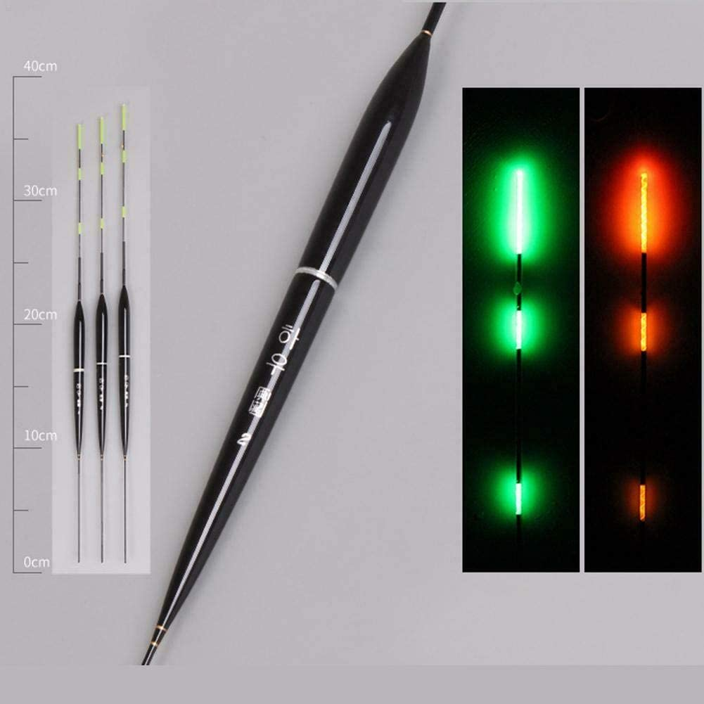 Hozora 3 st/ücke Smart Verf/ärbung Fischen Schwimmt Biss Haken Automatisch Farbwechsel Erinnern Nacht Led-Licht Leucht Angeln Bobbers