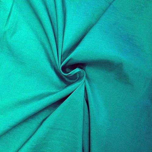 (Medium/Light Weight Stretch Taffeta Fabric By The Yard (Tiffany Blue)