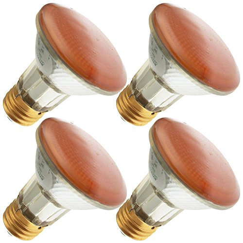 Industrial Performance 50PAR20/H/Y 130V, 50 Watt, PAR20, Medium Screw (E26) Base Transparent Yellow Light Bulb (4 Bulbs) ()