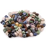 """Crystal Allies Materials: 3lb Tumbled All Natural Assorted Stone Mix from Brazil - ~1/2"""""""