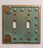 Pac-Man Double Light Switch Cover (Patina) (Aged Patina)
