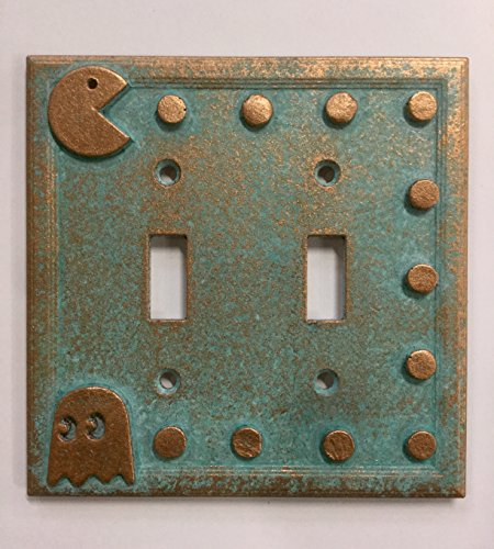 Arcade Wall (Pac-Man Double Light Switch Cover (Patina) (Aged Patina))
