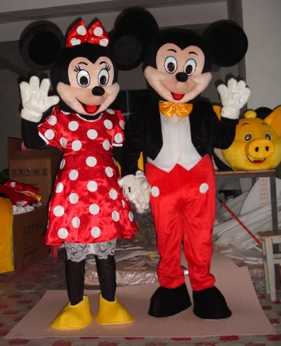 couple mickey minnie mouse mascot cartoon character. Black Bedroom Furniture Sets. Home Design Ideas