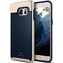 Galaxy S6 Edge Plus Case, Caseology® [Envoy Series] Premium Leather Bumper Cover [Leather Navy Blue] [Leather Bound] for Samsung Galaxy S6 Edge Plus (2015) - Leather Navy Blue