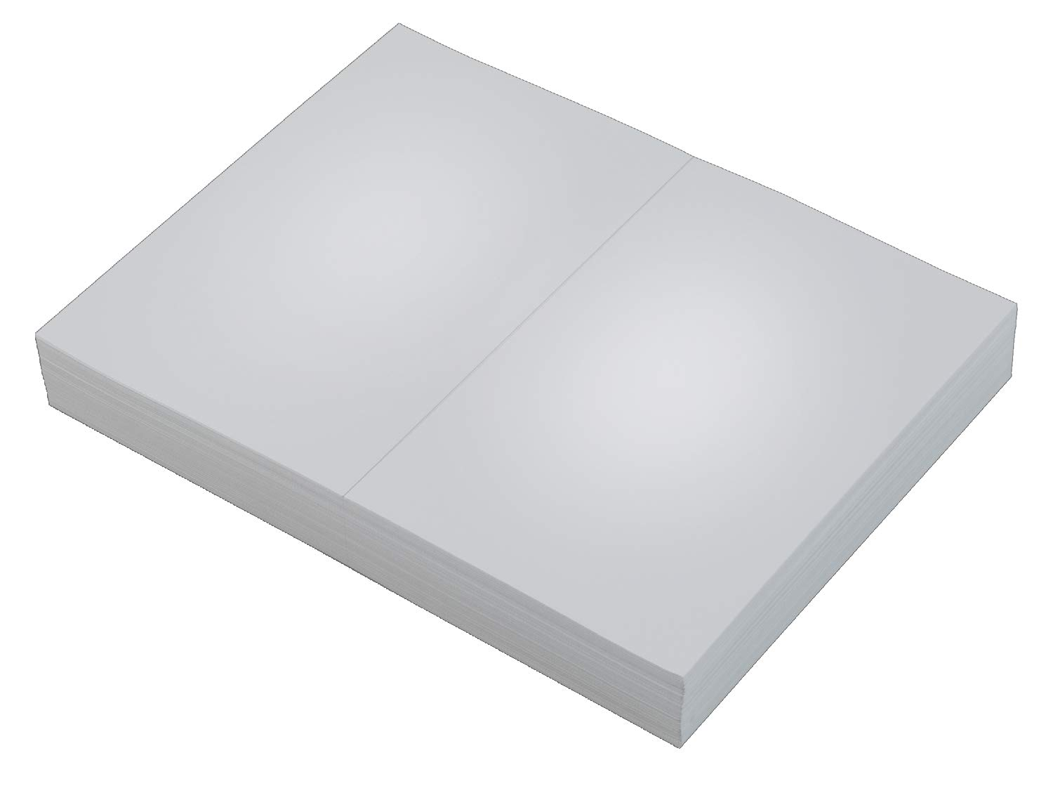 TOPS Laser Cut Sheet Paper, Perforated 5-1/2 Inches from Bottom, 20 Pound, 8.5 x 11 Inches, 500 Sheets, White (05020)