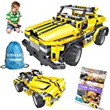2-in-1 Remote Control Car Building Set | STEM Learning Kits for Boys and Girls 6-12 | Best Engineering Toy Gift for Kids Ages