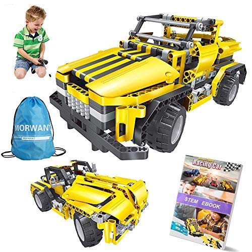 2-in-1 Remote Control Car Building Set   STEM Learning Kits for Boys and Girls 6-12   Best Engineering Toy Gift for Kids Ages 7,8,9,14 Year Old (426pcs)
