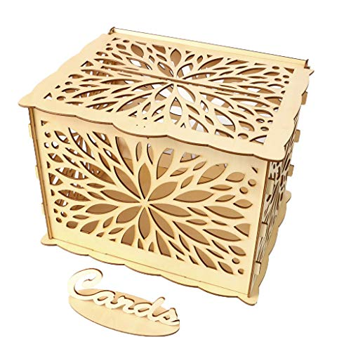 Amazon.com: Giokfine 2019 - Caja para tarjetas de boda con ...
