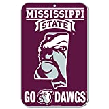 WinCraft Mississippi State Bulldogs Official NCAA 11'' x 17'' Plastic Wall Sign 11x17 by 575234