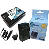Canon 7D Battery and Charger with Car Plug and EU Adapter - Replacement for Canon LP-E6 Digital Camera Batteries and Chargers (1800mAh, 7.4V, Lithium-Ion)