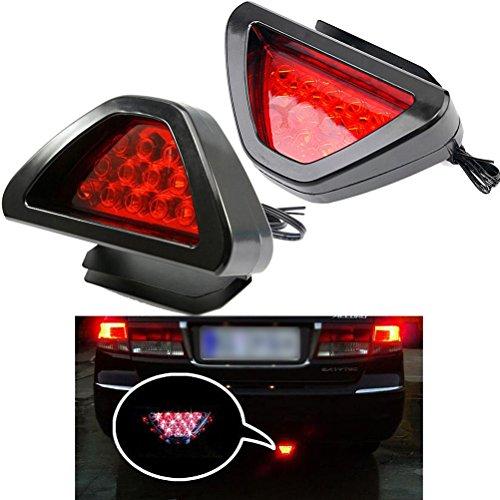 Keeping 2PCS/set 12LED Car Rear Tail Lamp Universal F1 Style Brake Stop Light Fog Lamp Bulbs