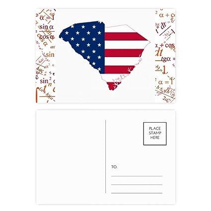 Carolina America USA Mapa Estrellas Rayas Bandera Fórmula ...