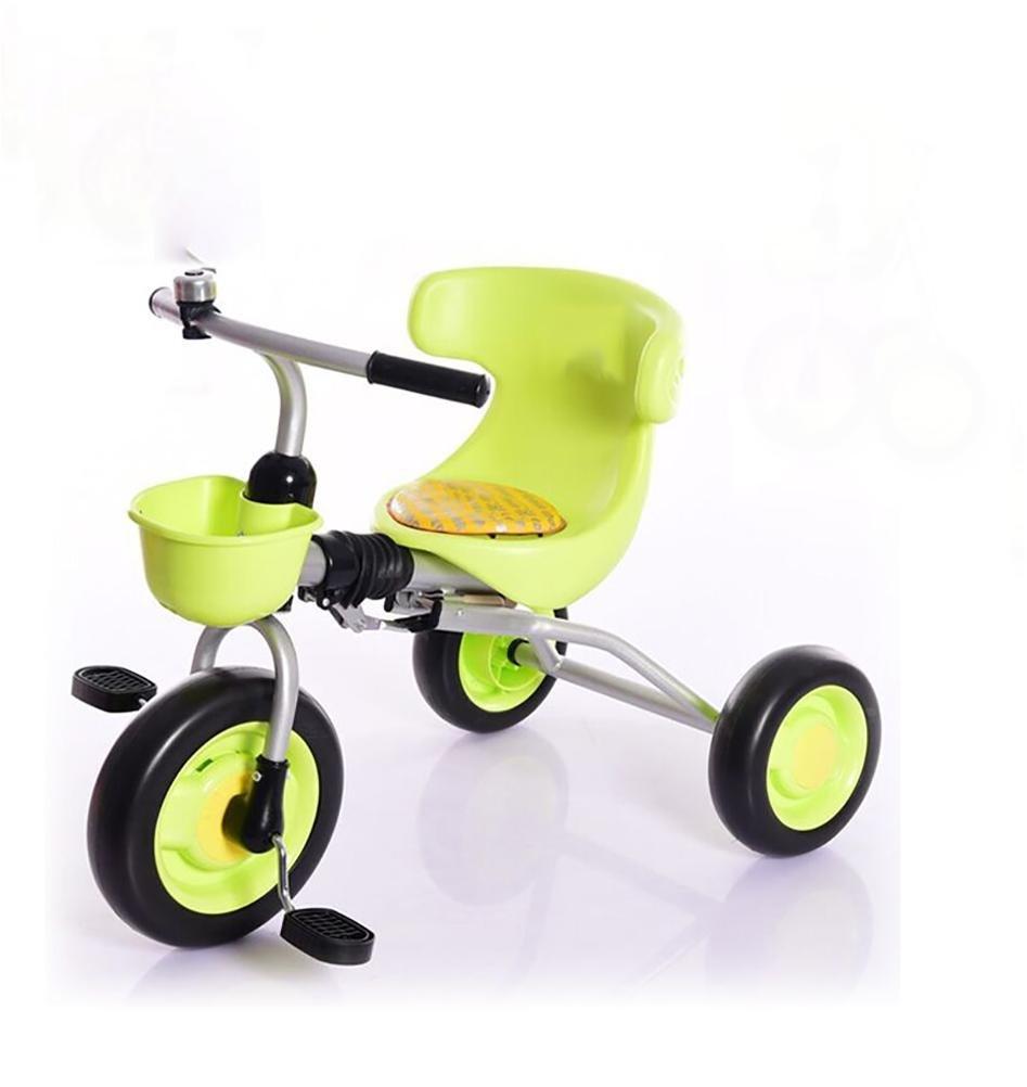 MASLEID Leichte Klapprad Dreirad für Kinder im Alter von 2-3-4 Grün