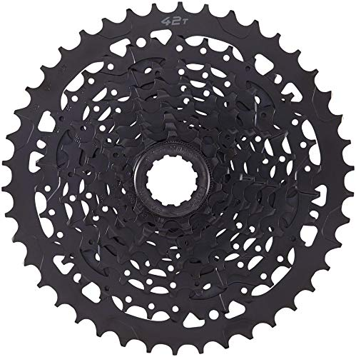 microSHIFT Advent H09 Cassette - 9 Speed, 11-42T, Alloy Large Cog, Black ()