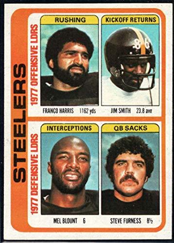 Football NFL 1978 Topps #522 Franco Harris/Jim Smith/Mel Blount/Steve Furness TL - Football Nfl Steve Smith