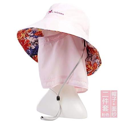 Eeayyygch Sombrero de Mujer Ms Cap Plegable Verano Al Aire Libre Sombrero  de protección Sombrero Ciclismo 14512d297fa