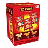 Cheez-It Grooves Crispy Cheese Cracker Chips, Variety Pack, Original Cheddar, Sharp White Cheddar, Zesty Cheddar Ranch, 1 oz Bags(12 Count)