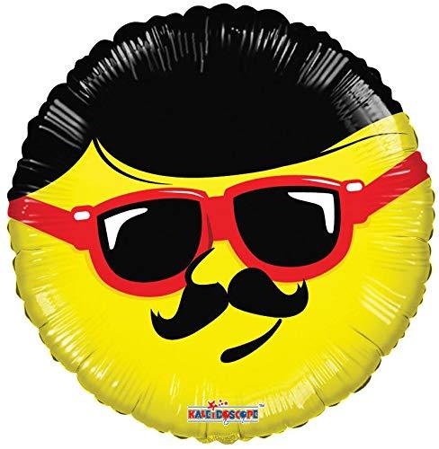 Amazon.com: Globo Emoji, 18 pulgadas, bigote Emoji, bigote ...