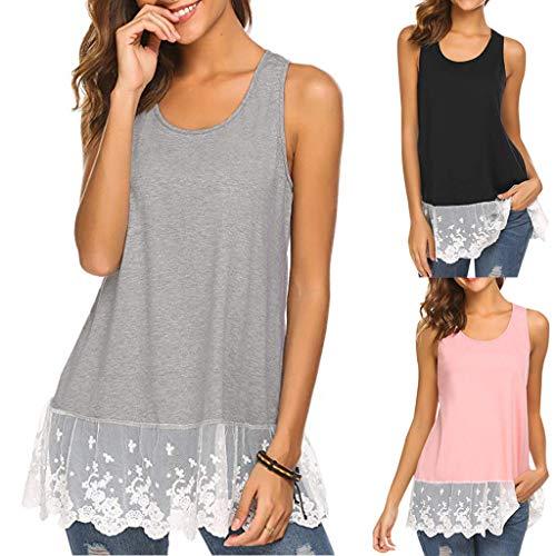 7d24a838caed24 Fashion week!BEUU Fashion Womens Sleeveless Lace Bow T-shirt Casual Tank  Tops