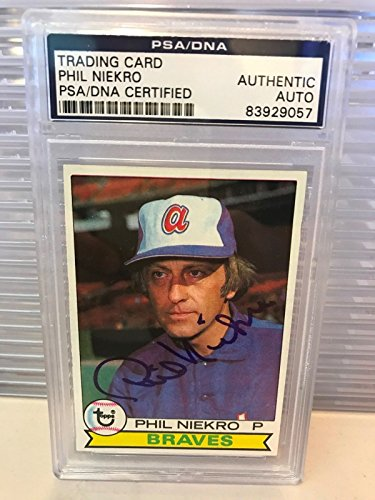 Phil Niekro Signed Autographed 1979 Topps Baseball Card PSA DNA ()