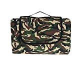 Camouflage Picnic Mat Foldable Portable Water-Resistant Sandproof Damp Proof Handy Outdoor Indoor Blanket Mat with Strap for Picnic Camping Hiking Grass Travelling Beach Mat Travel Rug