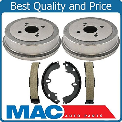 New Rear Brake Drums Shoes Pair Set NEW for Toyota Corolla 94-02 Prizm 93-02 3pc ()