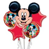 Mickey Mouse Birthday Bouquet Of Balloons - Happy Birthday Bouquet Of Balloons Featuring Mickey Mouse