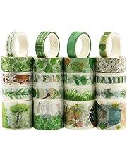 20 Rolls Washi Tape Set, NOGAMOGA Masking Tape, Rural Summer Series Washi Tapes for DIY Crafts, Gift Wrapping, Wedding Invitation, Photo Album -3 Sizes