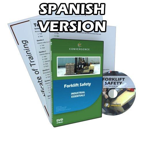 Convergence C-130-ES-US Forklift Safety Training Program DVD, 49 minutes Time, Spanish