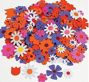 Felt Adhesive Flower - Foam Self-Adhesive Flower Shapes (500 pc)