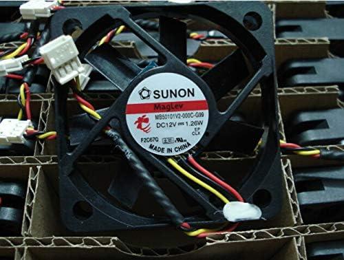 1pcs 50x50x10mm MB50101V2-000C-G99 12V 1.26W 3Wire 5cm TV Cooler Fan