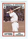 Joe Dimaggio baseball card 1982 TCMA Greatest Hitters #3 (New York Yankees) 67