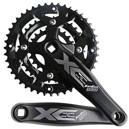 (ganopper 9S 9speed 22T 32T 44T 104 BCD 170mm Crank Arm Length MTB Mountain Bike Chainset Triple Teeth CrankSet (Black))