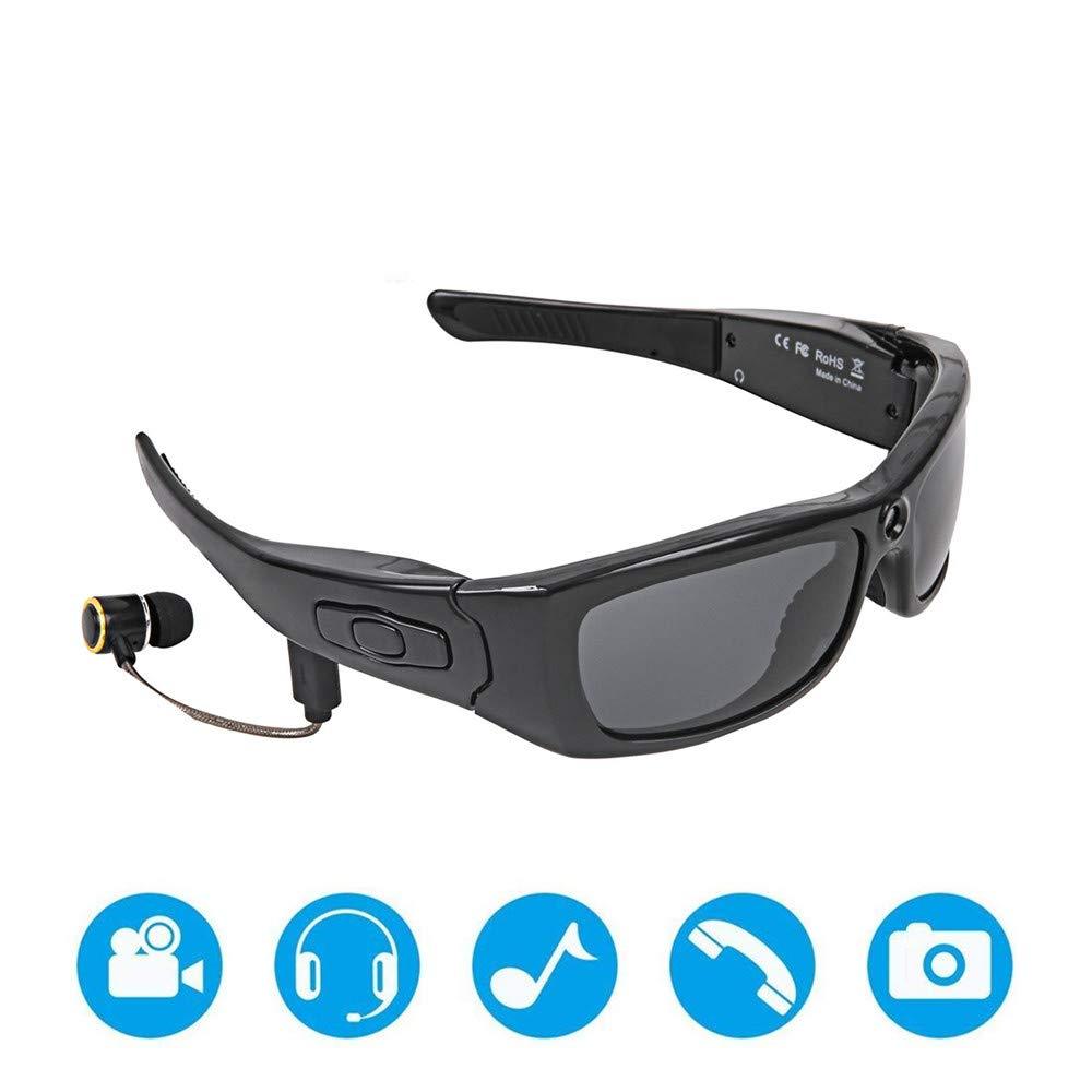 Lunettes de sport unisexes 1080 P Hd Bluetooth Musique vidéo Lunettes de soleil peut répondre à l\'appel Lunettes intelligentes Tornado Cyclisme Running Sport Lunettes de soleil Pêche conduite course l