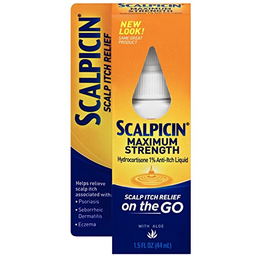 Scalpicin Scalp Itch Relief, 1.5 fl Oz. Maximum - Anti Treatment Liquid Itch Scalp
