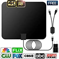 HDTV Antenna, Indoor Digital Amplified TV Antennas 60-90 Miles Range with Switch Amplifier Signal Booster for Local Free Channels